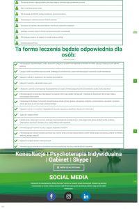 Projekt energiazyciowa.pl psychoterapia humanistyczna